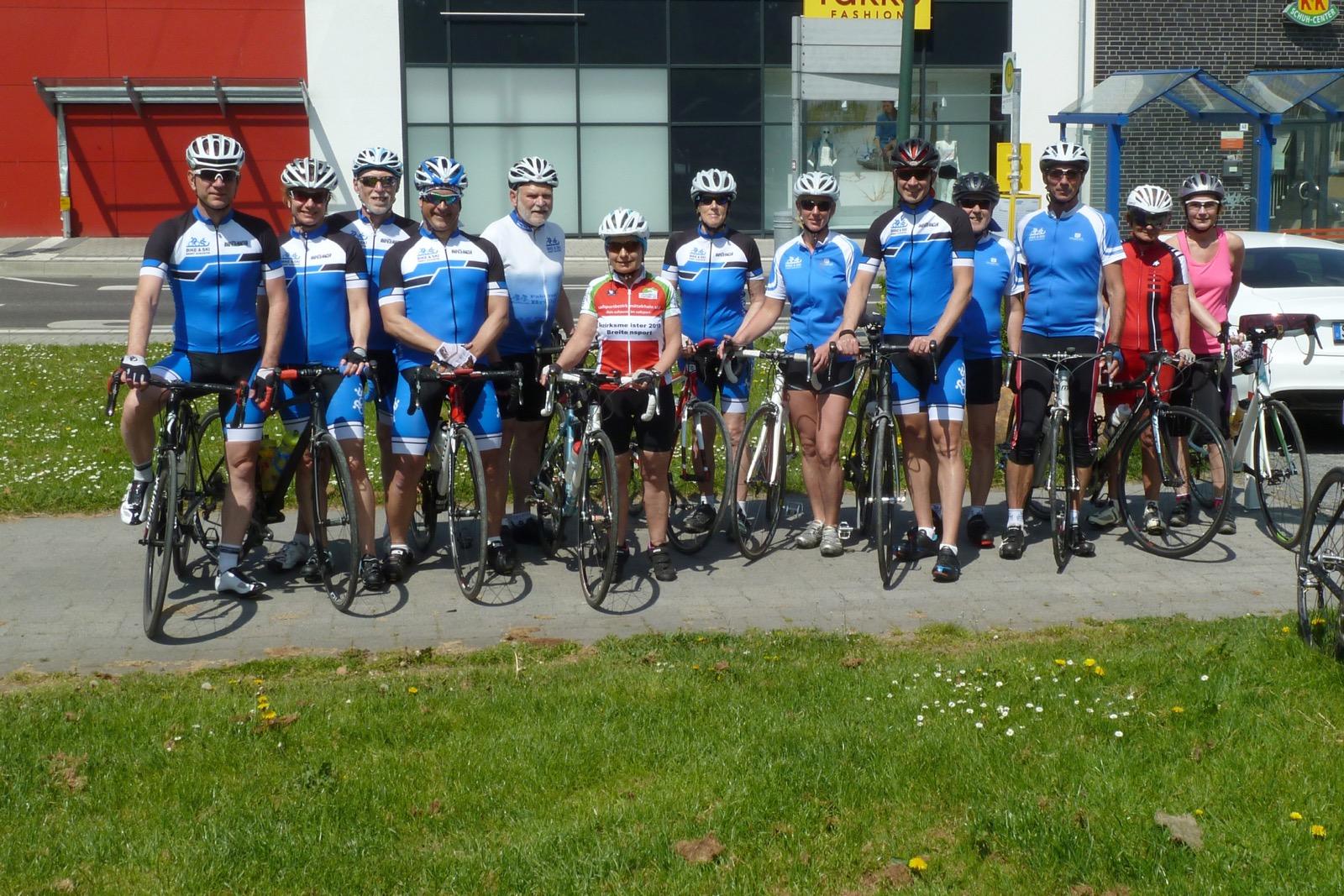 Teilnehmer am Radsporfttreff